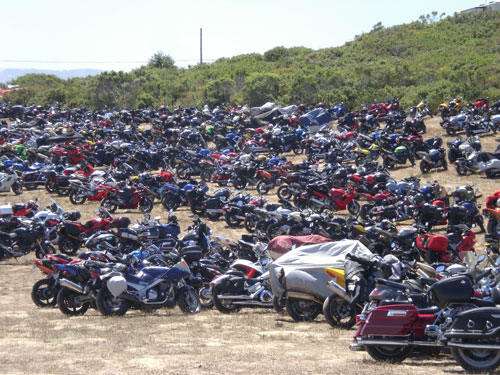 Motorcycle Parking Lot at Laguna Seca
