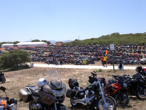 Motorcycle Parking Lot
